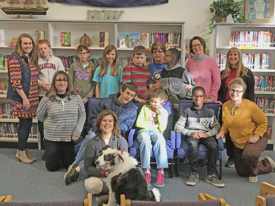 Therapy dog visit Web