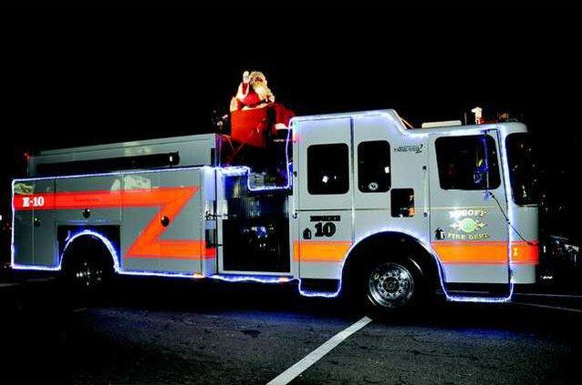 lugoff fire truck santa