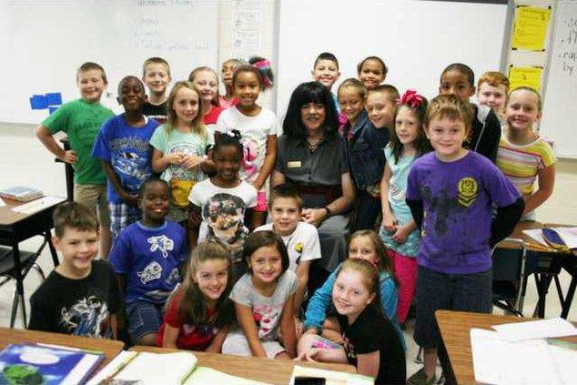 Principal Yount in Classroom