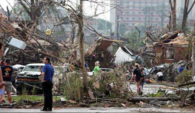 Storm damage in Tuscaloosa Ala