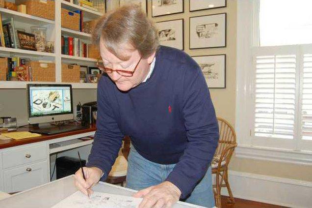 Robert Ariail at work.JPG