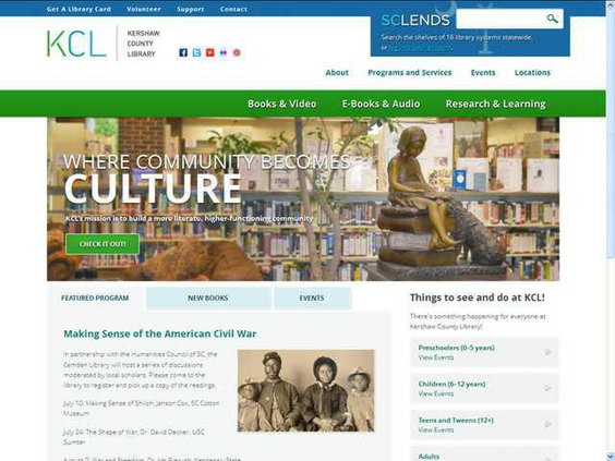Kershaw County Library website