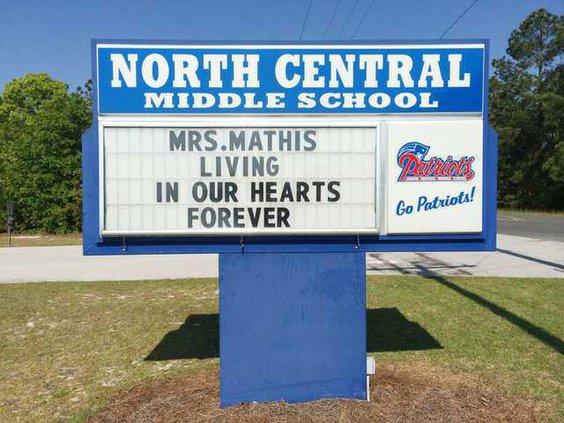 Charlene Mathis - NCMS Sign