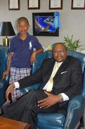 Reggie Lloyd and son