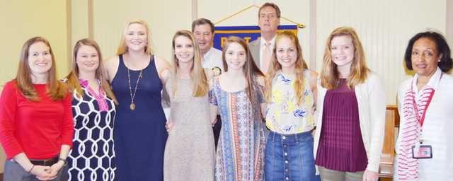 Rotary scholarship recipients 2017 Web