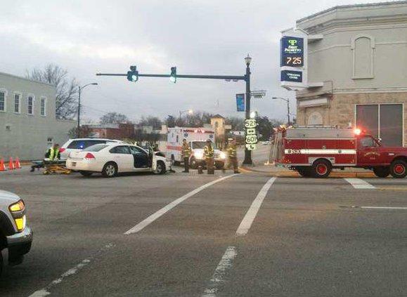 Accident at Broad and DeKalb