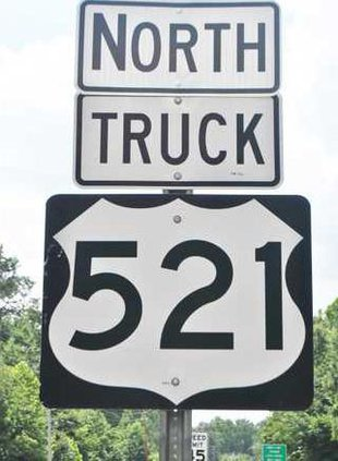 US 521 Truck Sign