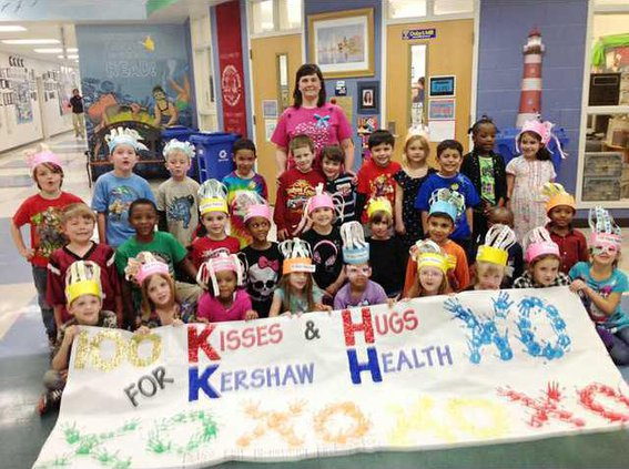 100 Kisses and hugs for Kershaw Health WEB