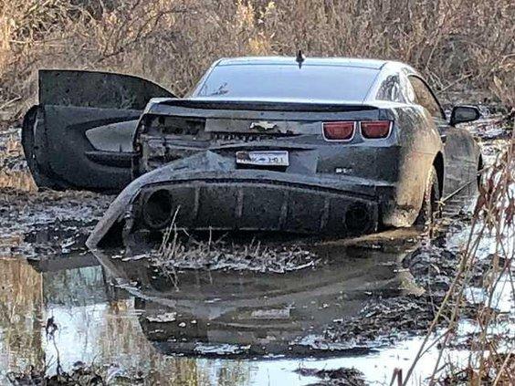 Camaro in Creek Web