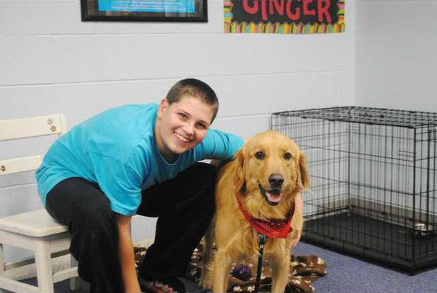 Ginger with student