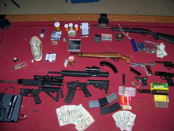 Guns drugs money