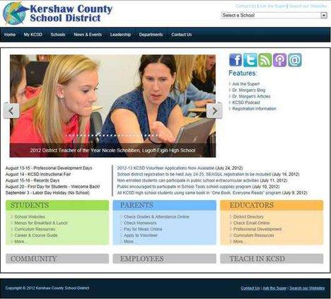 KCSD website screenshot