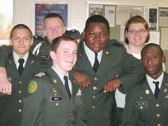 NCHS JROTC award photo
