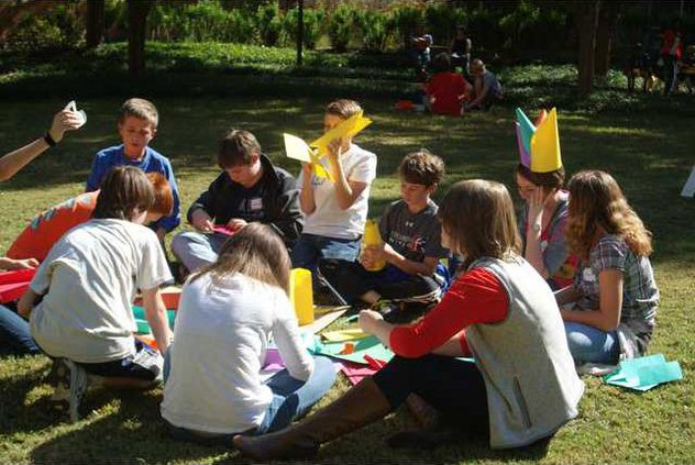 The children worked in small groups then combined their efforts to form a city.JPG