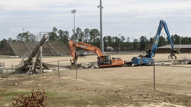 NCHS - Stadium Demolition