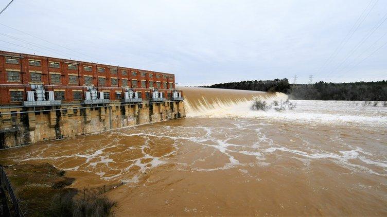 Flooding - Wateree Dam