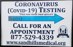 Sandhills COVID Sign