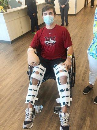 Robinson - Braces in Wheelchair