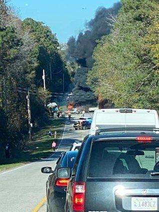 Bus v Truck Accident