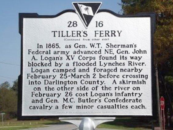 Tiller's Ferry Sign